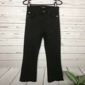 7 For All Mankind Black Jeans Size 28